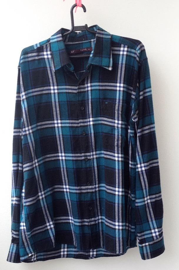 827abc7d2c camisa masculina xadrez azul g casual  moda 2018  algodão. Carregando zoom.