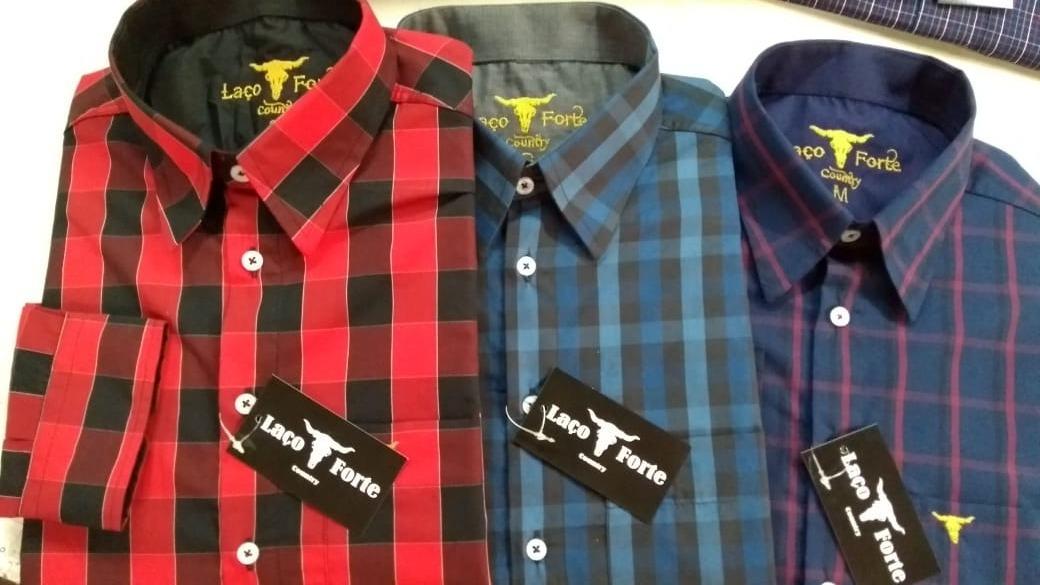 camisa masculina xadrez rodeio country fio tinto promoção. Carregando zoom. dc50e13ceb6