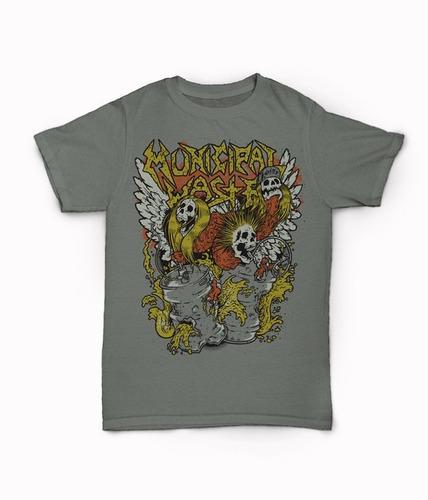 camisa mastodon, eddy, municipal waste, mr big, bob marley