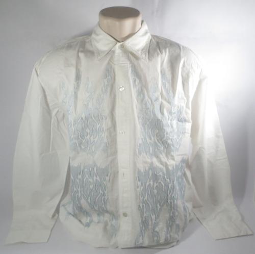camisa mbx social branca e azul tamanho xg original