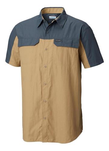 camisa m/c silver ridge 2.0 blocked s/s shirt gris columbia