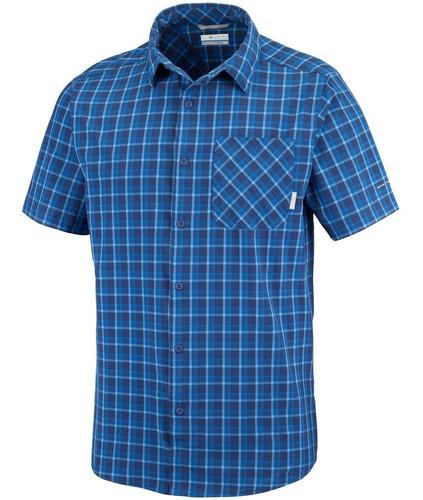 camisa m/c triple canyon short sleeve shirt azul columbia
