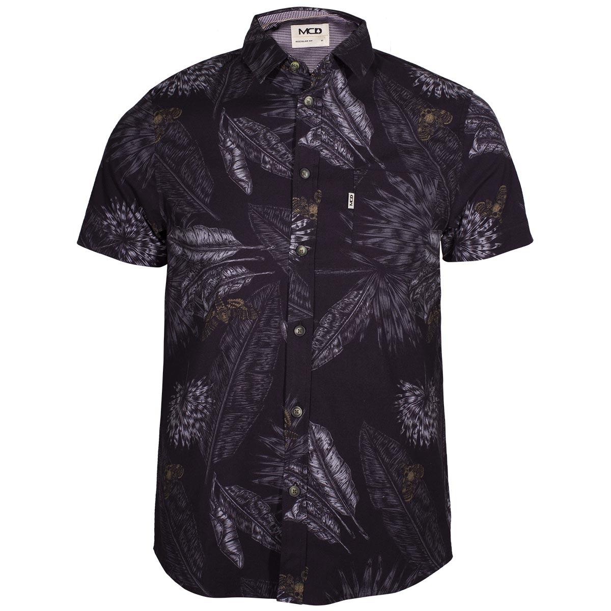 Camisa Mcd Leaves - Preto floral - R  279 9d7de352b6e