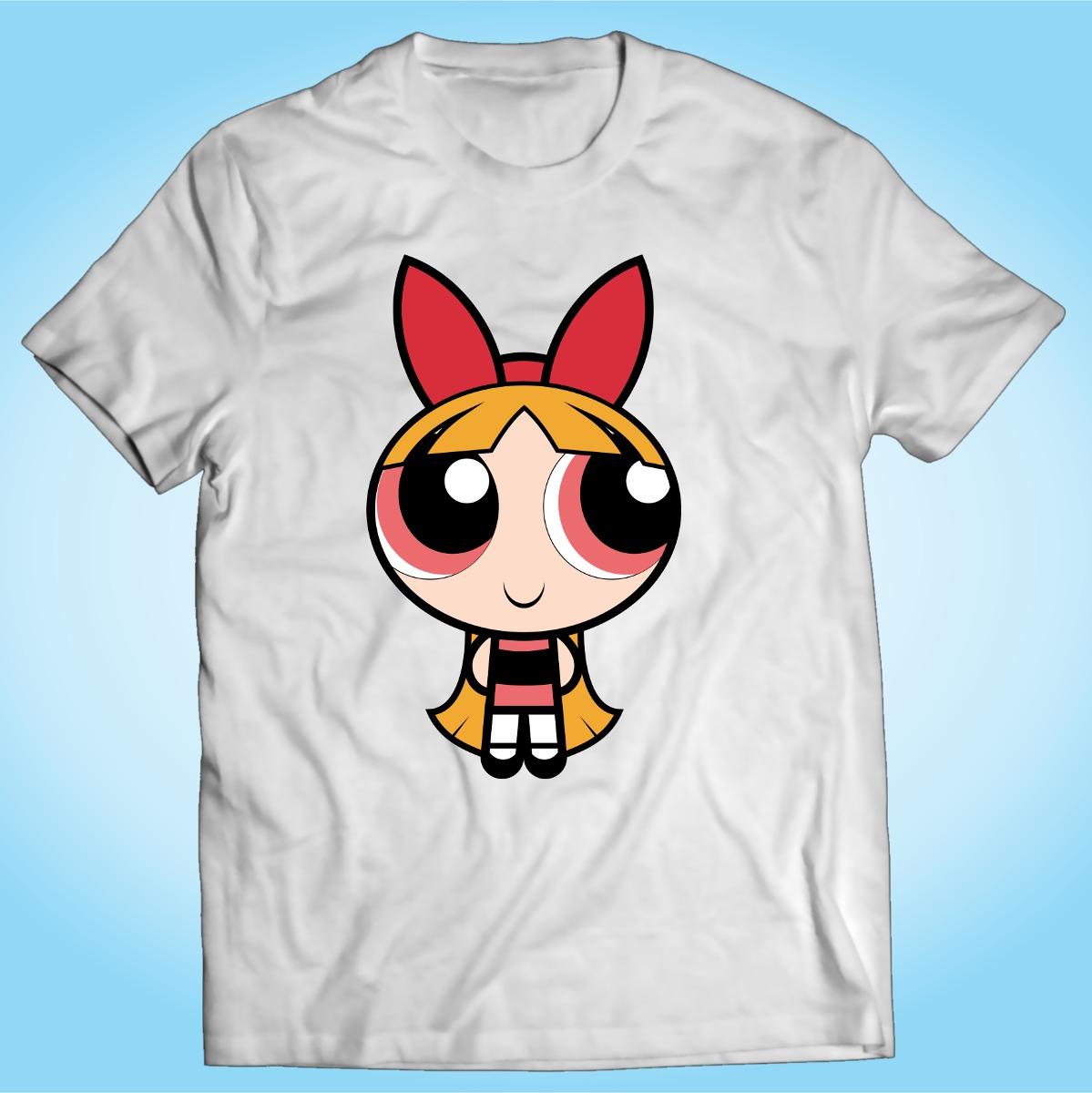 camisa meninas super poderosas florzinhas desenho tv r 27 90