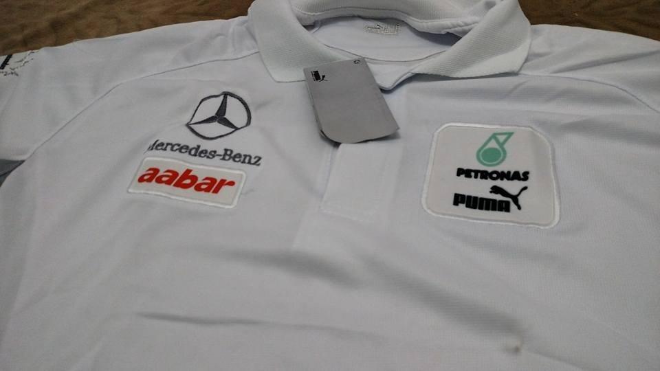 camisa mercedes f1 petronas branca. Carregando zoom. c298ecc66ca