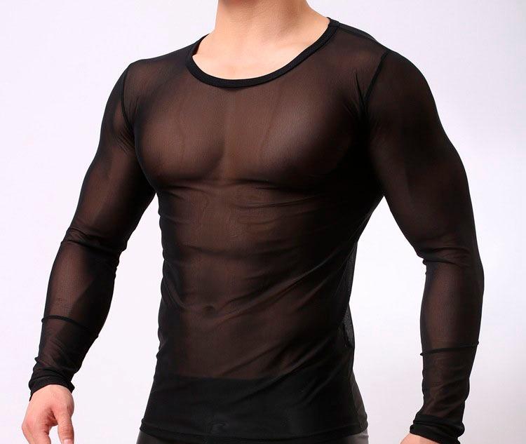 descuento especial de comprar popular venta minorista Camisa Mesh Hombre Ropa Gótica Metalera Biker Punk Rocker