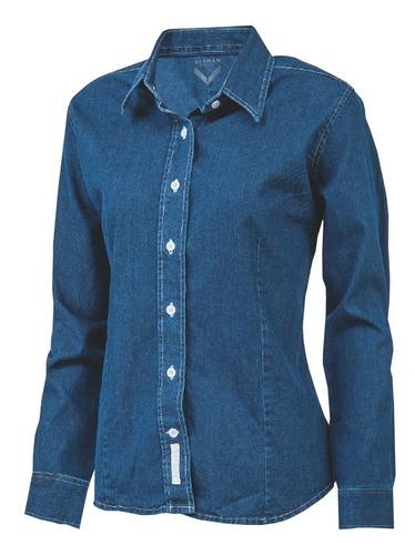 camisa mezclilla para dama y caballero, uniforme corporativo