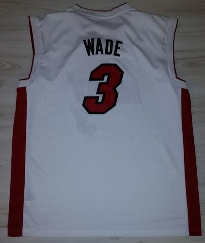 camisa miami heat #3 wade nba adidas - tamanho xl