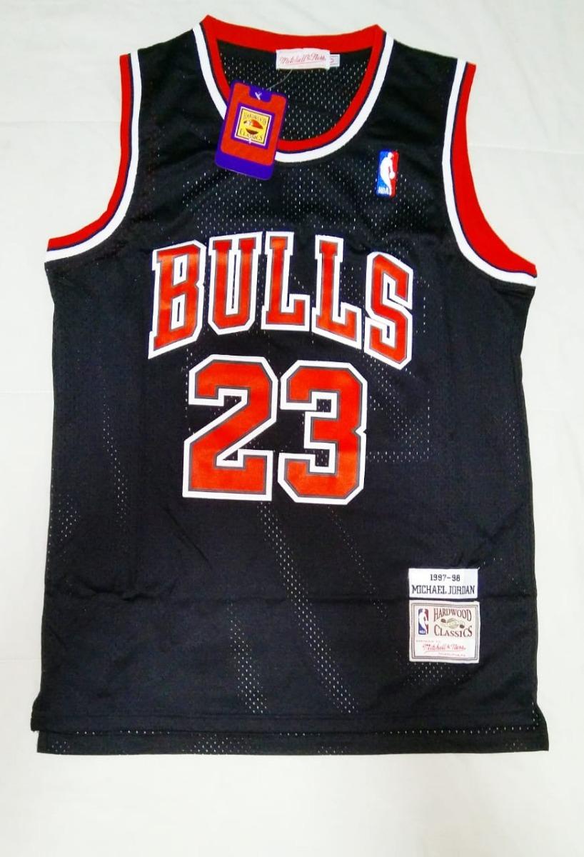 camisa michael jordan chicago bulls preta mitchell   ness. Carregando zoom. 3efc2a0bfce