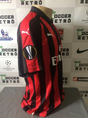 camisa milan 2018-19 patch europa league higuain 9