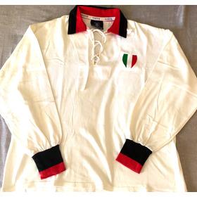 Camisa Milan Final Copa Europa 1963 Toffs Mangas Longas
