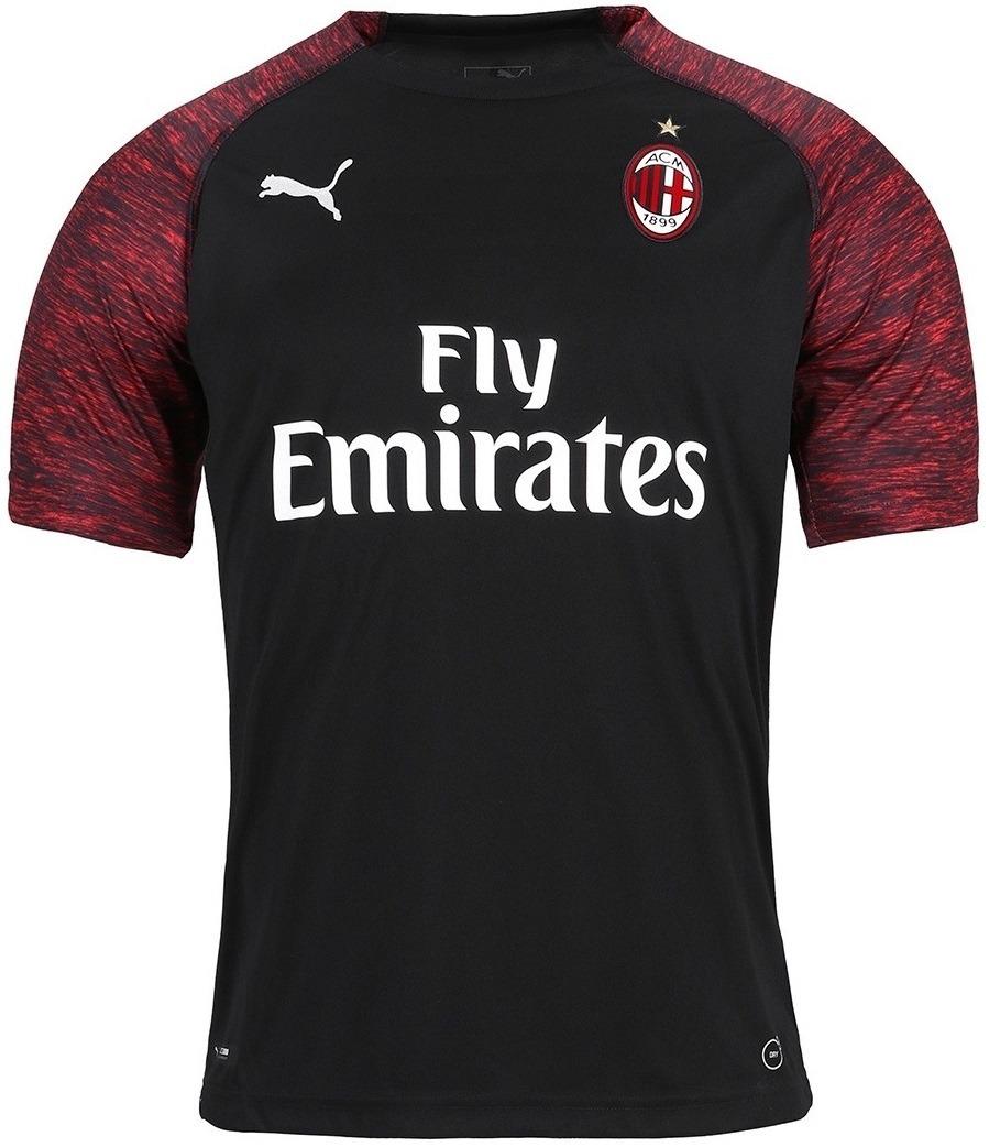 Camisa Milan - Uniforme 3 - 2018   2019 - Frete Grátis - R  125 39be300309b81