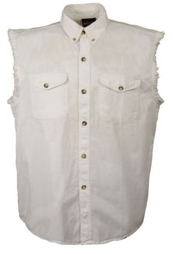 camisa milwaukee cuero hombre ligera s/mangas blanco 4xl