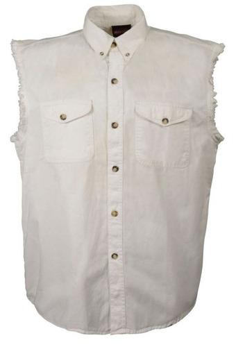 camisa milwaukee cuero hombre ligera s/mangas blanco sm
