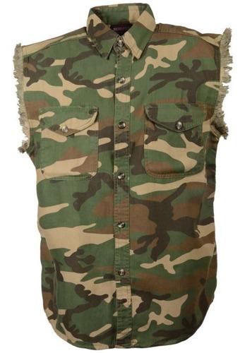 camisa milwaukee cuero hombre ligera s/mangas  camu xl