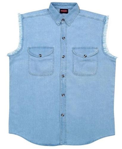 camisa milwaukee cuero hombre ligera s/mangas celeste md