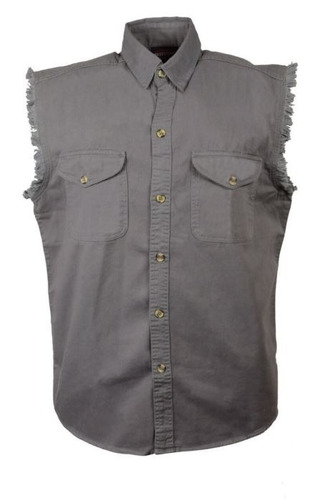 camisa milwaukee cuero hombre ligera s/mangas gris sm
