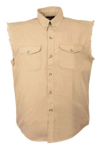 camisa milwaukee cuero hombre ligera s/mangas khaki 3xl