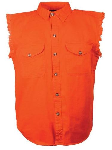 camisa milwaukee cuero hombre ligera s/mangas naranja sm