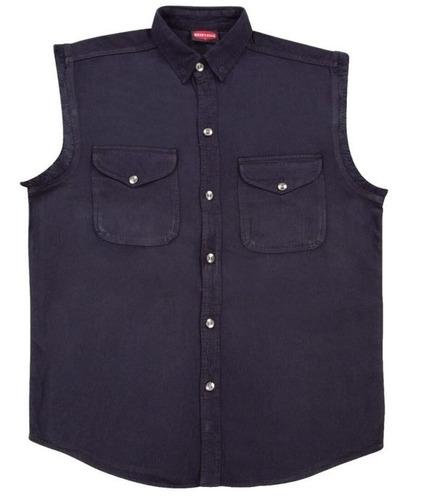 camisa milwaukee cuero hombre ligera s/mangas negro 4xl