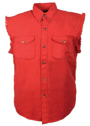 camisa milwaukee cuero hombre ligera s/mangas rojo 5xl