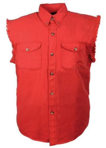 camisa milwaukee cuero hombre ligera s/mangas rojo xl