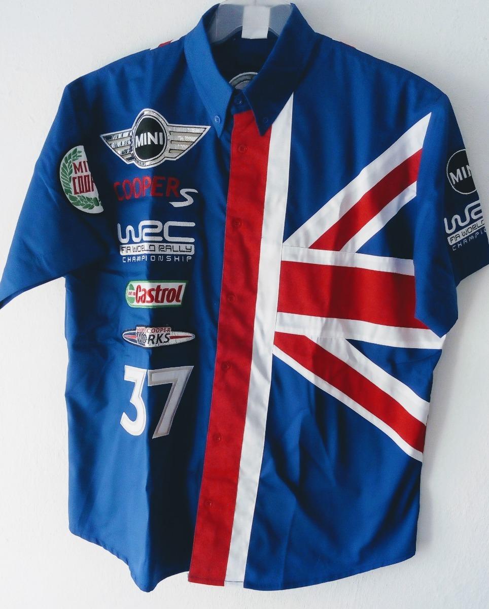 Camisa Minnie Cooper Castrol Rally Nascar Racing Azul -   548.00 en ... d9b283162337e