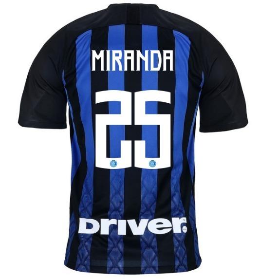 Camisa Miranda 25 Inter De Milao 2018-2019 - Frete Gratis - R  170 ... 2d152debe9f2d