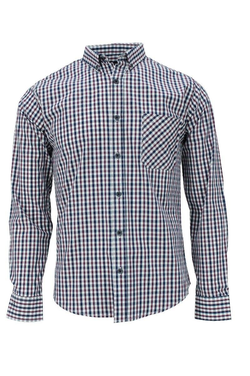 6eb4d6555ffcc Camisa M l Cuadros Chicos Blanco Y Morados -   469.00 en Mercado Libre