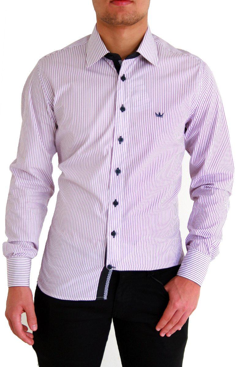 camisa moderna linda detalhes na manga pronta entrega fio100. Carregando  zoom. ce9d0afed28dd