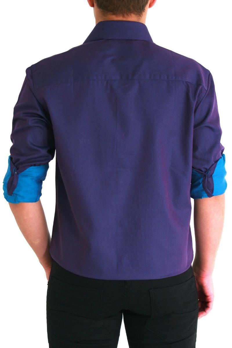 camisa moderna roxo acetinado ( pronta entrega) fio100. Carregando zoom. ef58ae83dc3ef