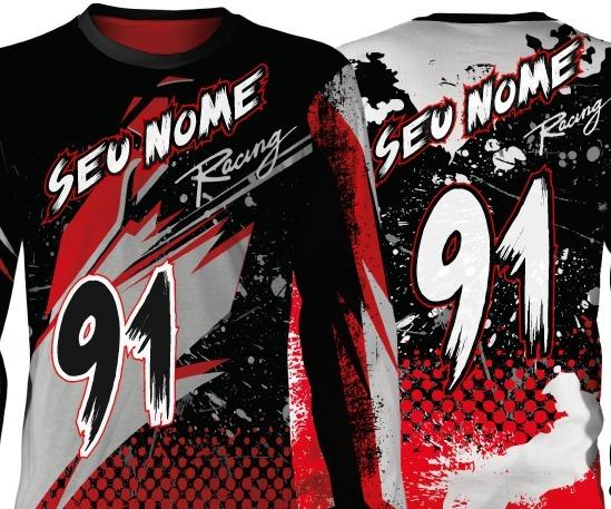 74742555f9 Camisa Motocross Forza Series Personalize Seu Nome E Número - R  89 ...