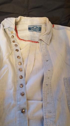 camisa motor oíl (reformada) .talle l - como nueva
