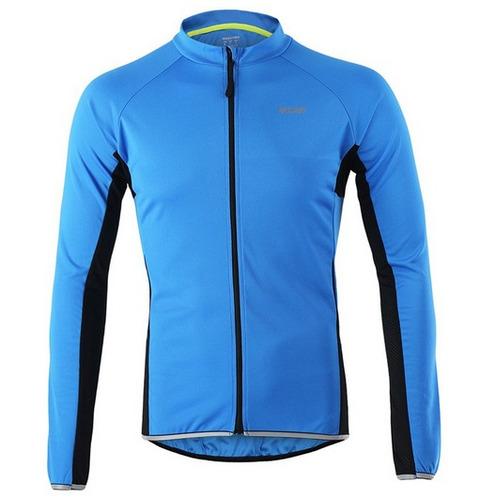 camisa mtb larga uniforme ciclismo poliester secado rapido