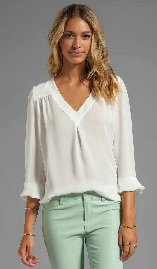 1a495ad6efeac camisa mujer blanca seda. Cargando zoom.