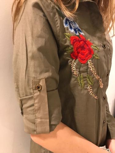 camisa mujer bordada