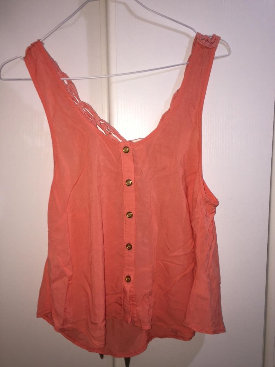 d19cc66b502be Con Espalda Cargando Camisa Color Mujer En Detalle Zoom Coral vxwFARqtBa