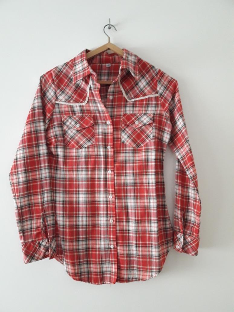 93fe1ea2a camisa mujer escocesa roja talle 42. Cargando zoom.