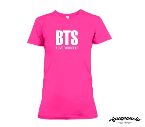 camisa mujer grupo bts  love yourself