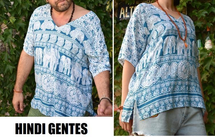 camisa om elefante mujer hippie 87 hombre hindu tunica yoga rIrfAHqw