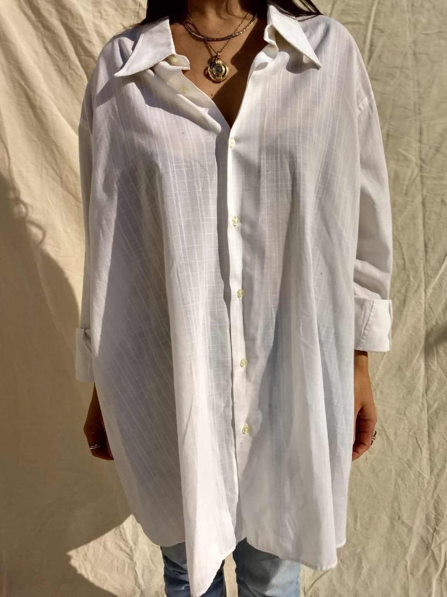 Mujer Oversize Holgada Cargando Blanca Vintage Zoom Camisa dAqwn db92878e86b
