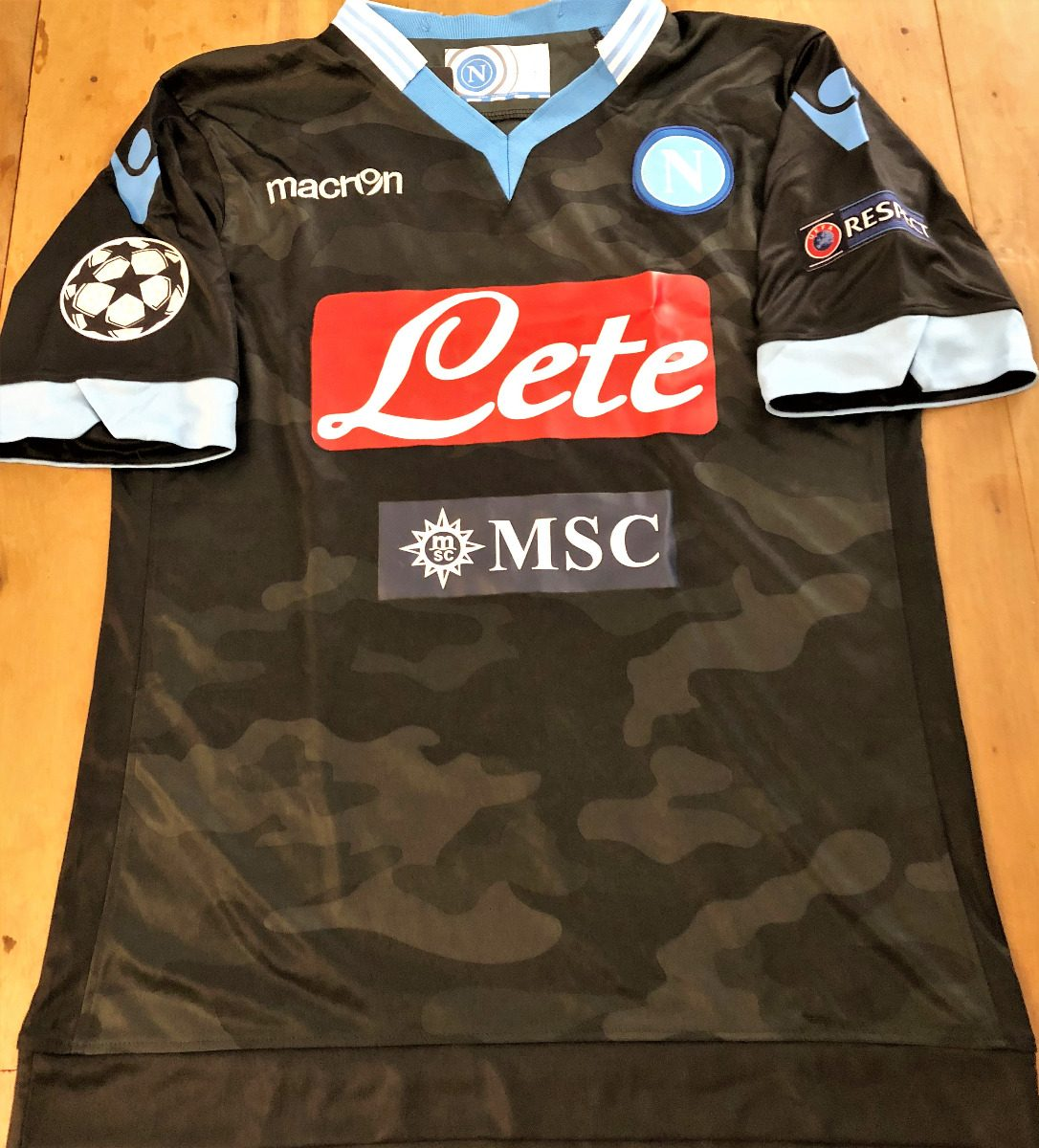 Camisa Napoli 2013 14 Camuflada Hamsik  17 Champions League - R  299 ... 23a8e037ecbf7