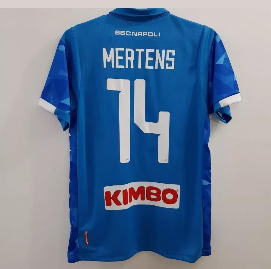 Camisa Napoli Home Mertens   14 Ou Insigne   24 - R  144 f09bde720ab8e