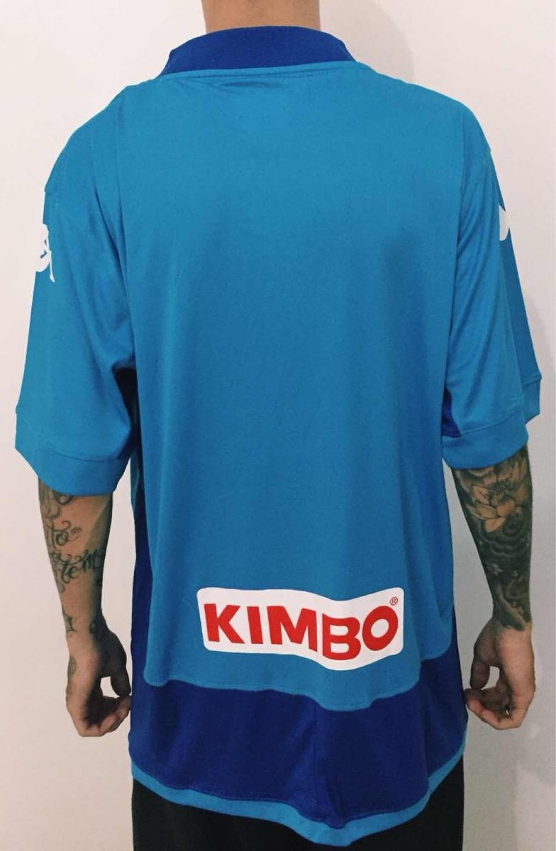 camisa napoli nova kappa oficial azul 2018 original torcedor. Carregando  zoom. c728b9117524c