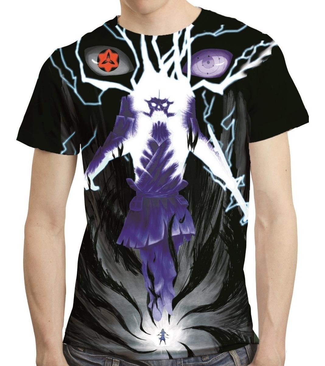 Camisa Naruto Camiseta Sasuke Itachi Susanoo Estampa Total R