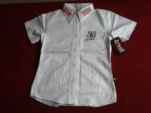 camisa nascar branca feminina tony stuart original