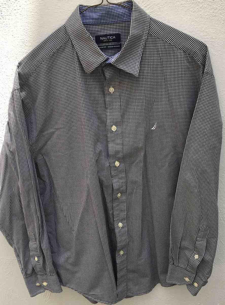 Camisa Náutica Caballero Talla 15-1/2 Y 32-33 Original