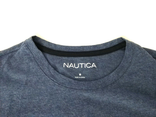 camisa nautica masculina manga longa original azul