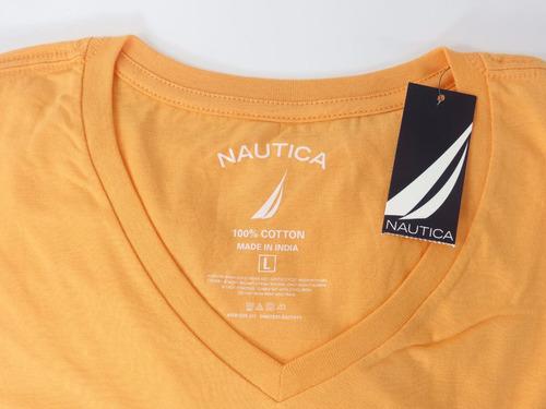 camisa nautica masculina original laranja