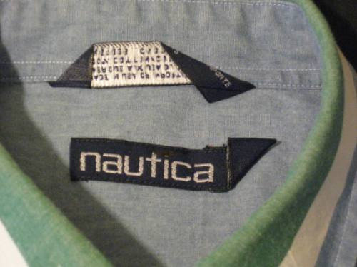 camisa nautica talla l americana manga larga